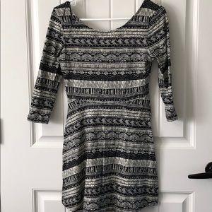 Forever 21 3/4 Sleeve Dress w/ Unique Design